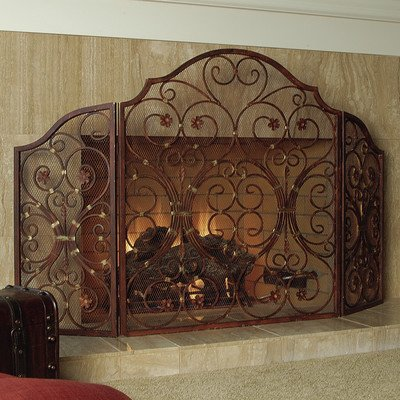 Provincial 3 Panel Iron Fireplace (Iron 3 Panel)