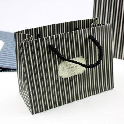 WEAF-Bagpaper cadeaux entreprise sacs style: noir bleu-vert,Sacs à main verticale