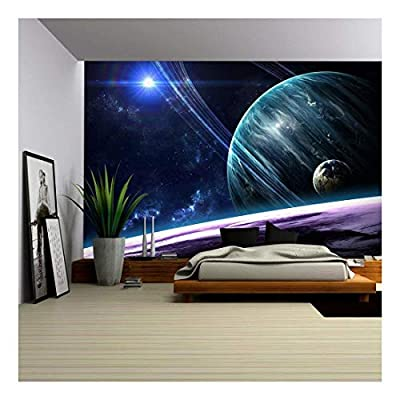 Universe Scene with Planets Stars and Galaxies in...66