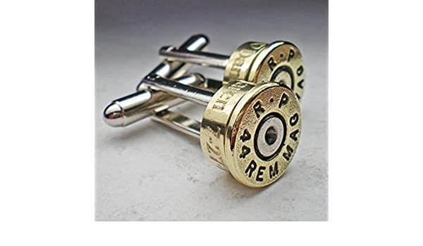 44 Magnum Rp Brass Bullet Engraved Personalized Bullet Cufflinks