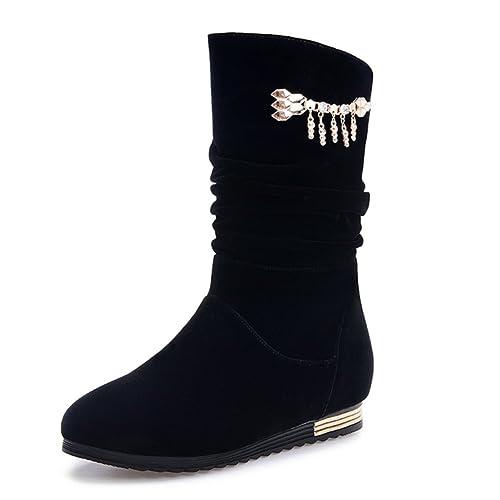 Precio reducido en pies imágenes de costo moderado Botas con tacón interno/Otoño/invierno ocio que botas Scrubs ...