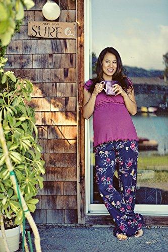 Majamas The Genna Maternity & Nursing Pajama Set (X-Large, Marron)