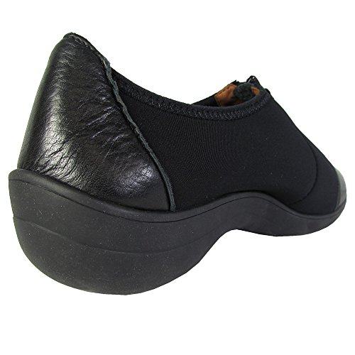 Zachte Zielen Dames Alexis Ne Cap Teen Zip-up Sneaker Schoenen Zwart Neopreen