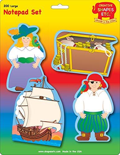 Pirate Shape (Pirate Large Notepad Set)