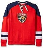 NHL Florida Panthers Men's Centre Long Sleeve Crew Neck Pullover Sweatshirt, Medium, Red/Navy/White