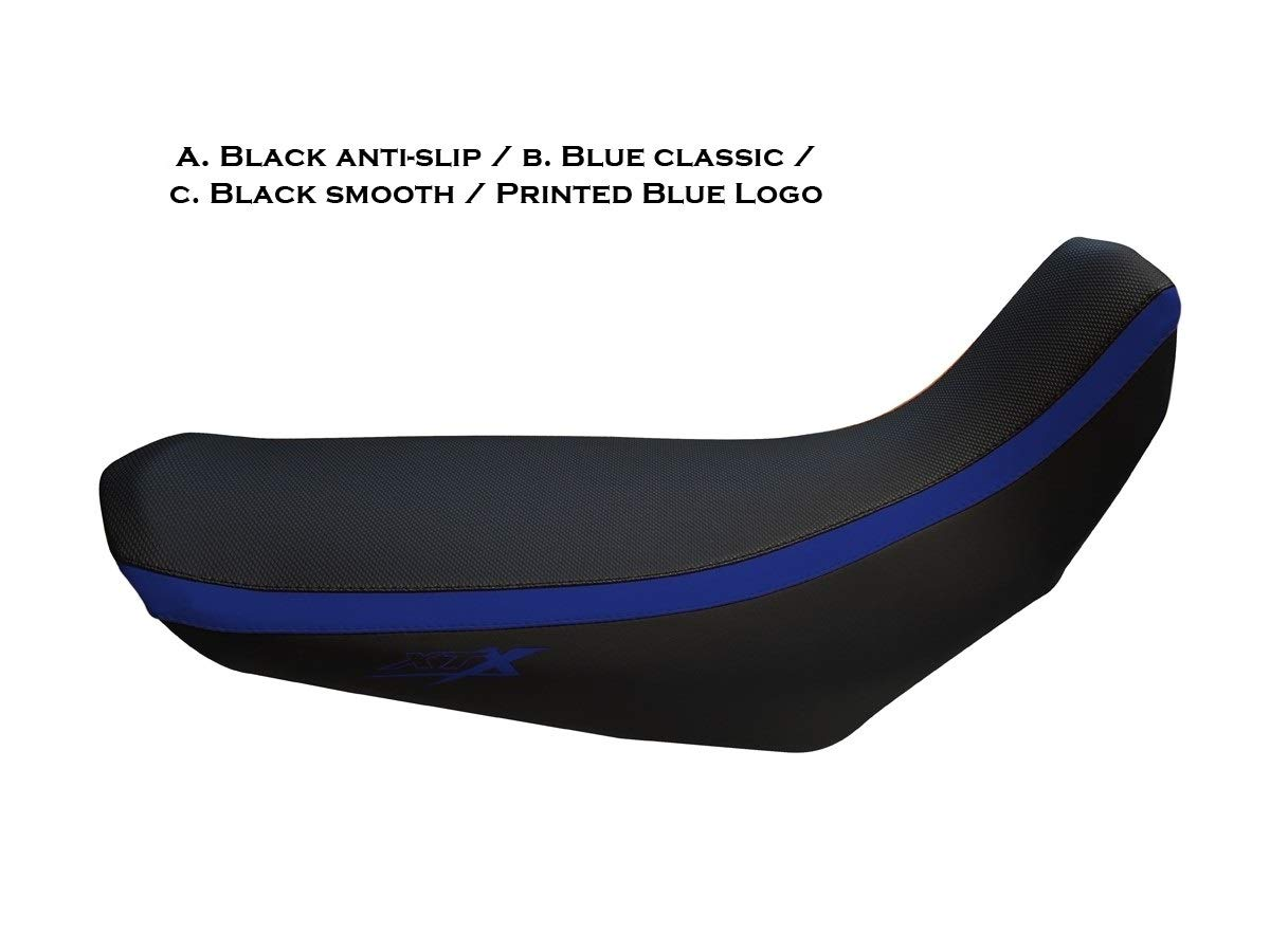 Yamaha XT660X seat cover black-blue with logos