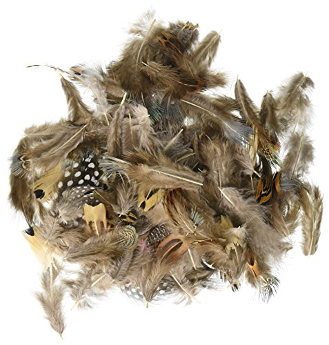 CHENILLE KRAFT 4514 Natural Feathers Assortment 1/2oz. Natural