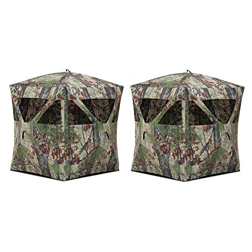 - Barronett Blinds Radar Backwoods Camo Lightweight Pop Up Hunting Ground Blind (2 Pack)