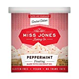 Miss Jones Baking 90% Organic Holiday Buttercream Frosting, Perfect for Icing and Decorating, Vegan-Friendly: Peppermint with Candy Crunch Pieces (Pack of 1) For Sale