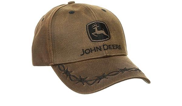 John Deere Gorra de aspecto oilskin Patch Casual Hombre - 1308 - 0099bw: Amazon.es: Amazon.es