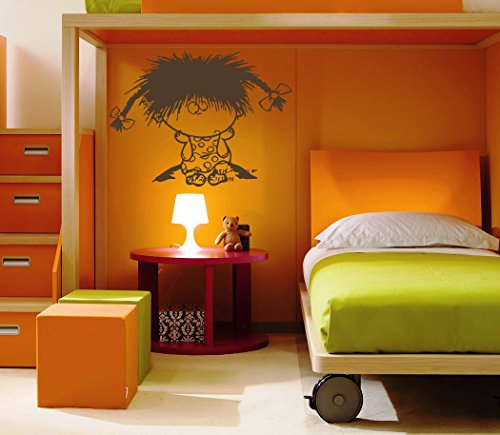 Girl Little Petite Kids Room Children Stylish Wall Art Sticker Decal G8699