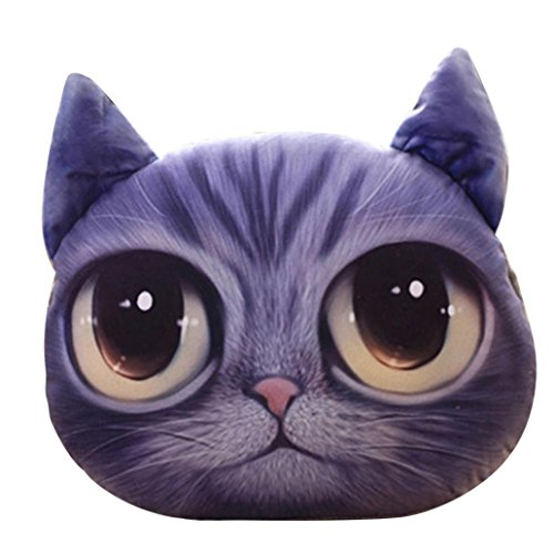 - Sothread 3D Cat Stuffing Throw Pillow Plush Toy Doll Decor Filling Cushion Christmas Gift (C).