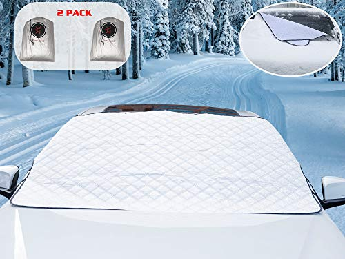 Glare Guard Premium Auto Snow Windshield Cover Snow, Ice, Sleet, Frost, Hail Protector Car Cover   Universal All-Weather 76