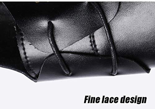 negocios de cordones cuero hombres 5 UK vestido 6 de con Zapatos de 5 Zapatos Color cómodos para hombre para Color 9 5 US NEGRO US Marrón 5 Talla Negro UK 5 ocasionales redondo tamaño 8 nOxw855t7q