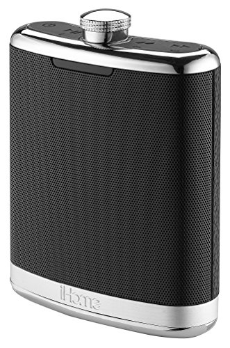 iHome Rechargeable Flask Shaped Bluetooth 4-Speaker System with Speakerphone, USB Charging (iBT32BSC) by iHome