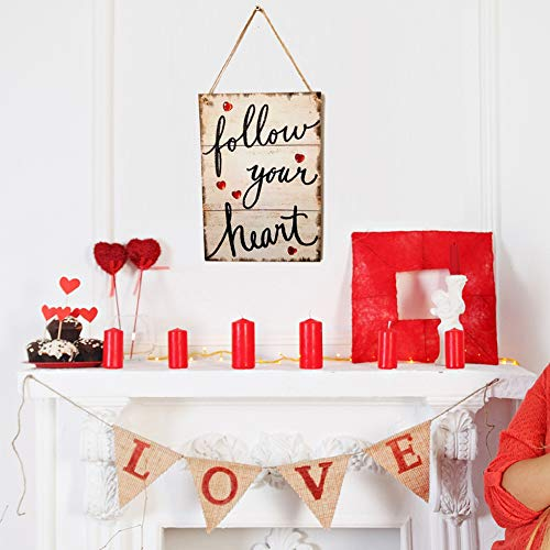 Dds5391 Refined Follow Your Heart Wooden Hanging Sign Home Garden Door Wall Plaque Decoration from dds5391