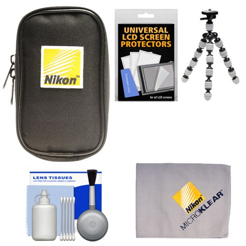 nikon-coolpix-nylon-digital-camera-carrying-case-with-flex-tripod-cleaning-kit
