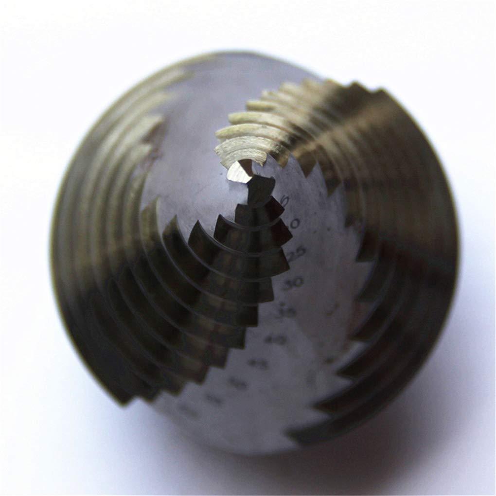 DIY & Tools Cdrox 6-60mm HSS Spiral Flute Step Drill Bit 12 Steps 12mm Shank Step Cone Drill Bit Hole Cutting Twist Drilling