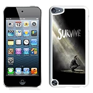 NEW Unique Custom Designed iPod Touch 5 Phone Case With The Walking Dead Season 5 Survive Rick_White Phone Case Kimberly Kurzendoerfer