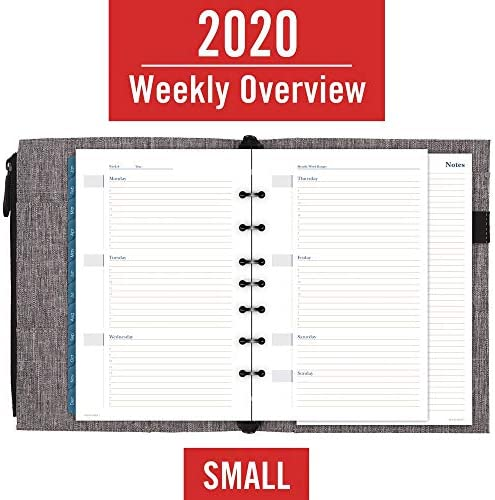 Undated 5-1//2 x 8-1//2 Desk Size Chambray AT-A-GLANCE Day-Timer DR1102-040