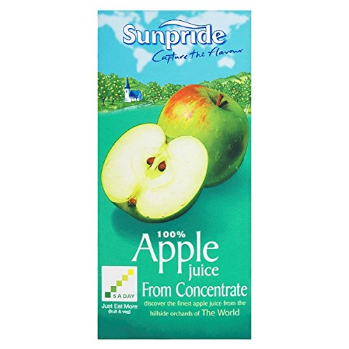 Sunpride 100% Apple Juice from Concentrate 1 Litre (Pack of 12 x 1ltr)