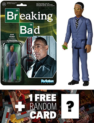 Gustavo Fring: Funko ReAction x Breaking Bad Action Figure + 1 FREE Official Breaking Bad Trading Card Bundle (054113)