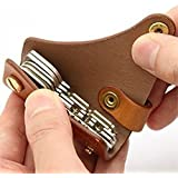 TUFFSTUFF American Styletan Brown Leather Keychain