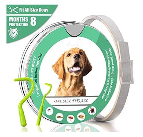 vvvbdrrr Adecuado para Perros, Gatos, Impermeables, antipulgas y ácaros pequeños, medianos y