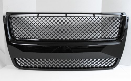 Sports Grille Kit (06-09 Ford Explorer XLT 07-09 Sport Trac Front Mesh Sport Grille Grill Kit Black)