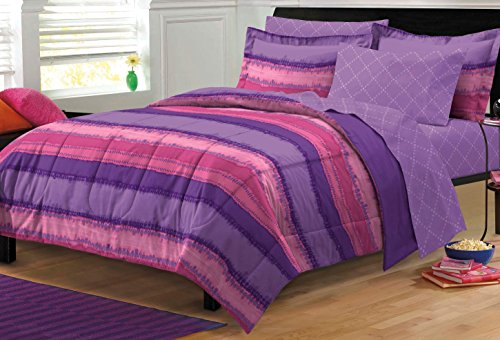 My Room Tie Dye Ultra Soft Microfiber Comforter Sheet Set, Multi-Colored, Twin/Twin X-Large]()