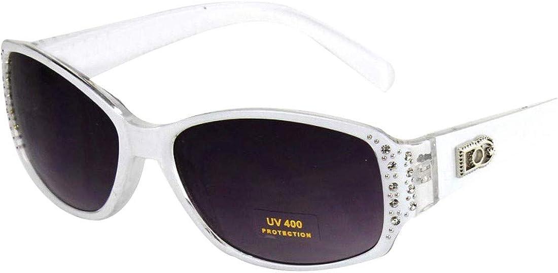New DG Shield Womens Rhinestones Designer Sunglasses Shades Fashion Retro Black