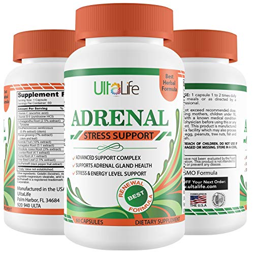 ADRENAL FATIGUE Making You Feel Tired, Run Down & in a Fog? Adrenal Support Supplement - Manage Cortisol Stress Hormones & Boost Energy - Natural Formula for Men & Women -