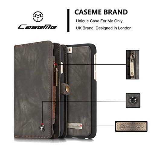 iPhone 7 / iPhone 8 Coque, CaseMe 008 Housse en Cuir avec La Fonction Stand portefeuille Wallet style Cover Étui pour Apple iPhone 7 8 (bleu)