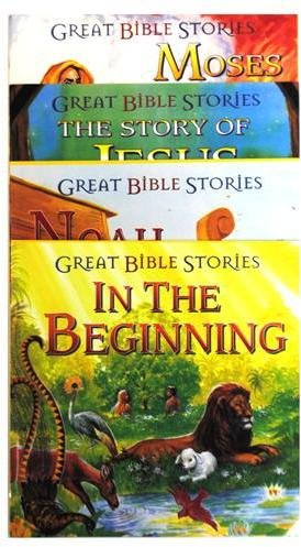 BIBLE SOFTCOVER STORYBOOKS 8 X 8 PAPER SOFT COVER 16 PAGES 4 ASST