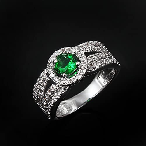 Cool Punk Style Luminous Steel Chain Ring Unisex Lovers Finger Ring