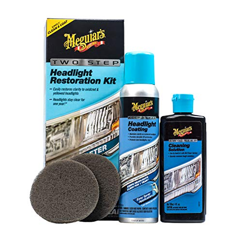 Meguiar's G2970 Meguiar's Two Step Headlight Restoration Kit, 4 fl. oz, 1 Pack