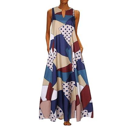 Vestidos Mujer Casual,Wave166 Vestido De Verano Largo Maxi Falda ...