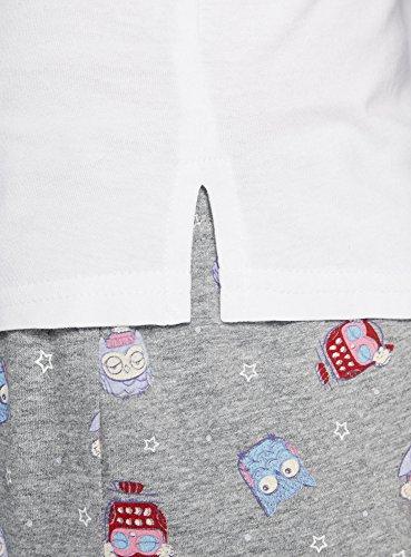 Donna Pantaloncini Bianco 1023o Pigiama oodji con Stampato Ultra UOxw5aBqg