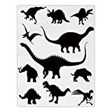 Polyester Rectangular Tablecloth,Dinosaur,Various Black Dino Silhouettes Jurassic Evolution Extinction Predator Animals,Black White,Dining Room Kitchen Picnic Table Cloth Cover,for Outdoor Indoor