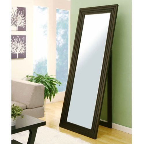 247SHOPATHOME Idi-12522 Soho Contemporary Floor Mirror, Cappuccino