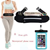 Eneston Running Belt Waist Pack -Fanny Pack – Workout Pouch - iPhone 6 6s 7 Plus iPhone Holder for Sports Walking Hiking Workout Runner – Best Fitness Gear for Hands Free Workout