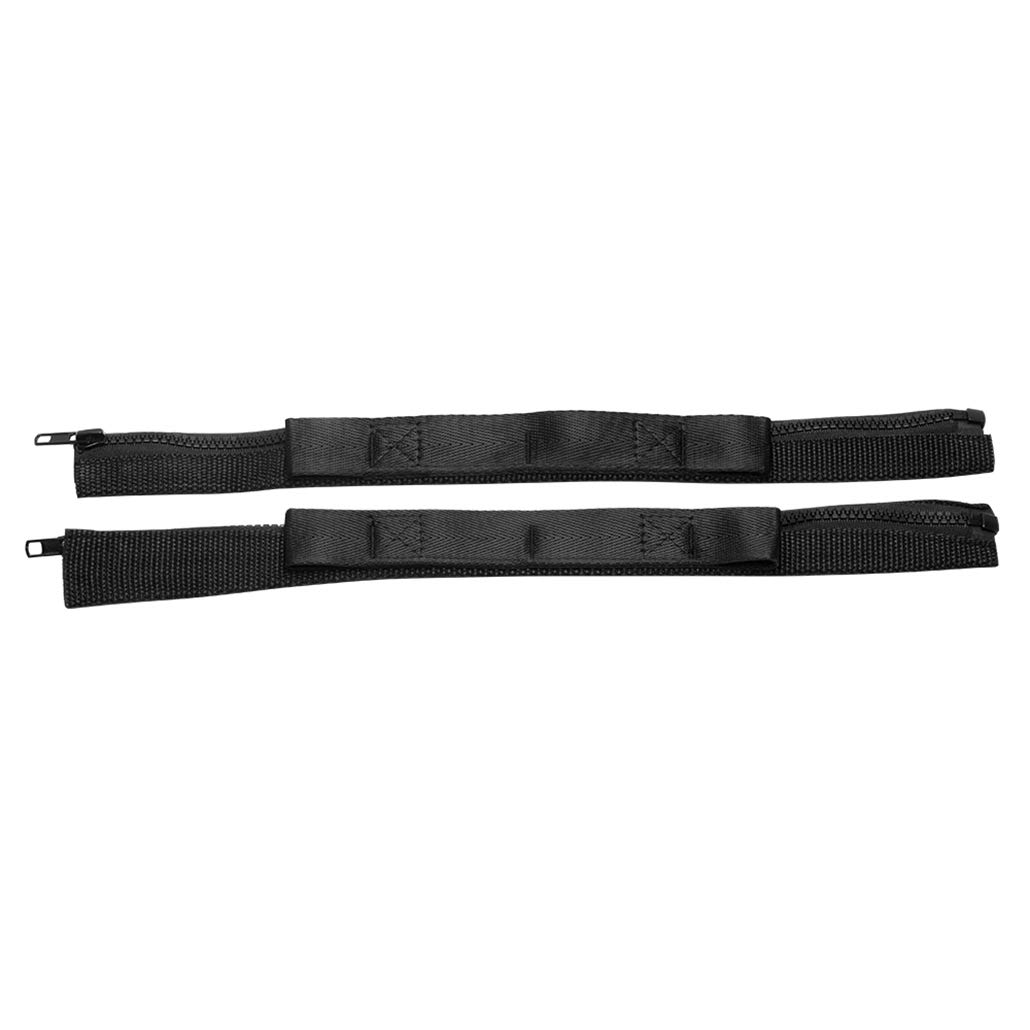 2PCS,Black Door Adjustable Limiting Strap for Jeep Wrangler JK 2007-2018 Door Check Straps with zipper