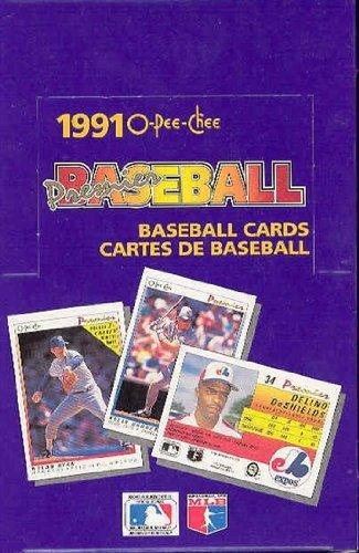 1991 O-Pee-Chee Premier Baseball Cards 36/packs in unopened (O-pee Chee Baseball Box)
