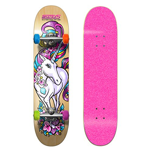 (SkateXS Beginner Unicorn Girls Skateboard)