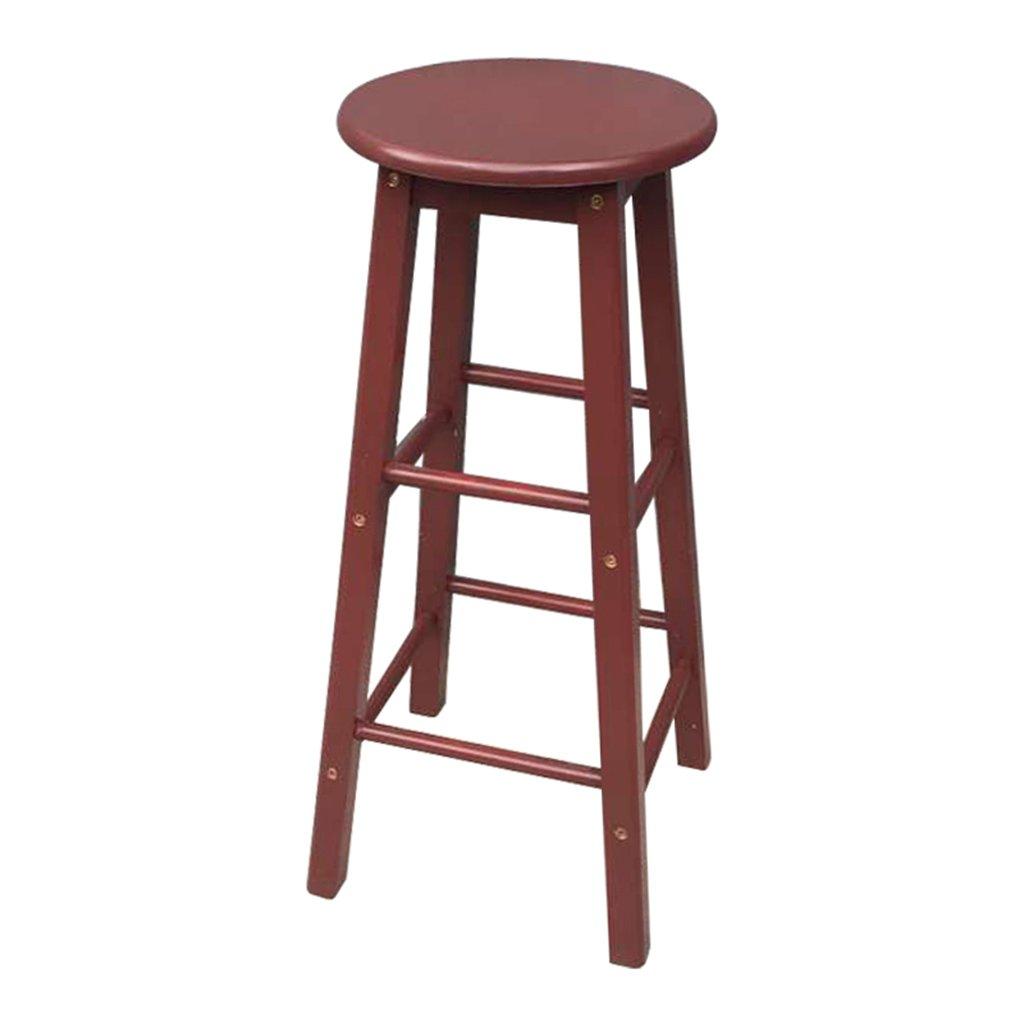 ANDEa Chaise de bar - Tabouret de bar Tabouret de rangement Chaise de bureau avant Tabouret rond en bois massif R