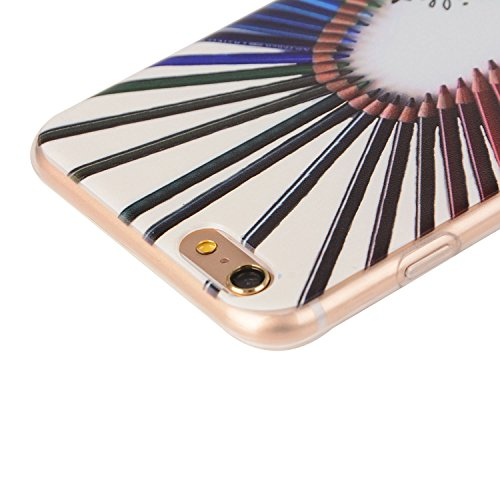 Für Apple iPhone 6 Plus / iPhone 6S Plus (5.5 Zoll) Hülle ZeWoo® TPU Schutzhülle Silikon Tasche Case Cover - YG011/ Farbstiften