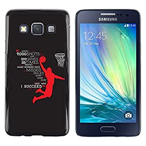 Be Good Phone Accessory // Dura Cáscara cubierta Protectora Caso Carcasa Funda de Protección para Samsung Galaxy A3 SM-A300 // basketball hero success succeed star