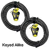 Master Lock - Two 30 ft Python Adjustable Cable Locks Keyed Alike, #8413KACBL-30-30