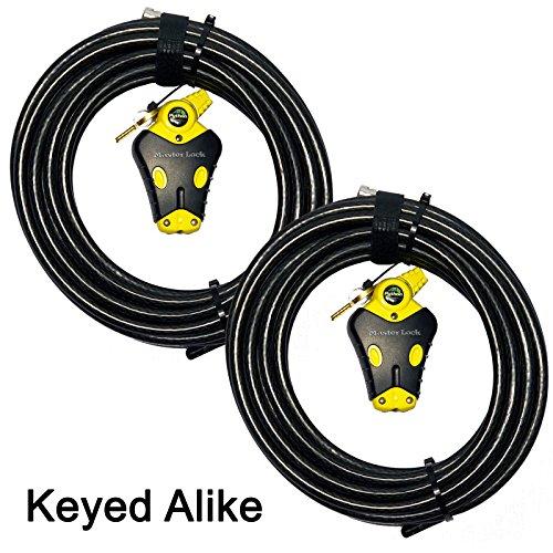 Master Lock - Two 30 ft Python Adjustable Cable Locks Keyed Alike, 8413KACBL-3030