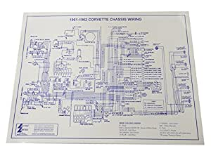 Amazon.com: 1961-1962 Corvette C1 Wiring Diagram 17X22 ...